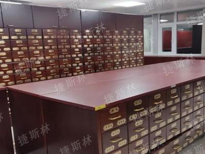 东直门医院在捷斯林定制钢木结合中药柜等产品